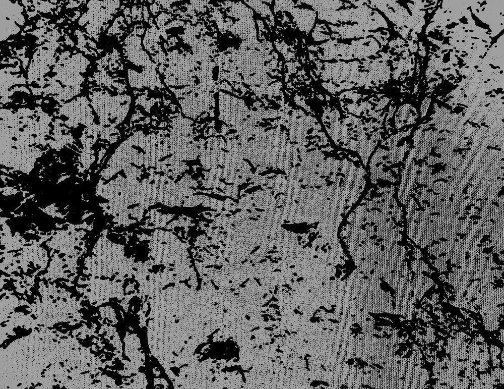 Elastický úplet černý tisk na šedé