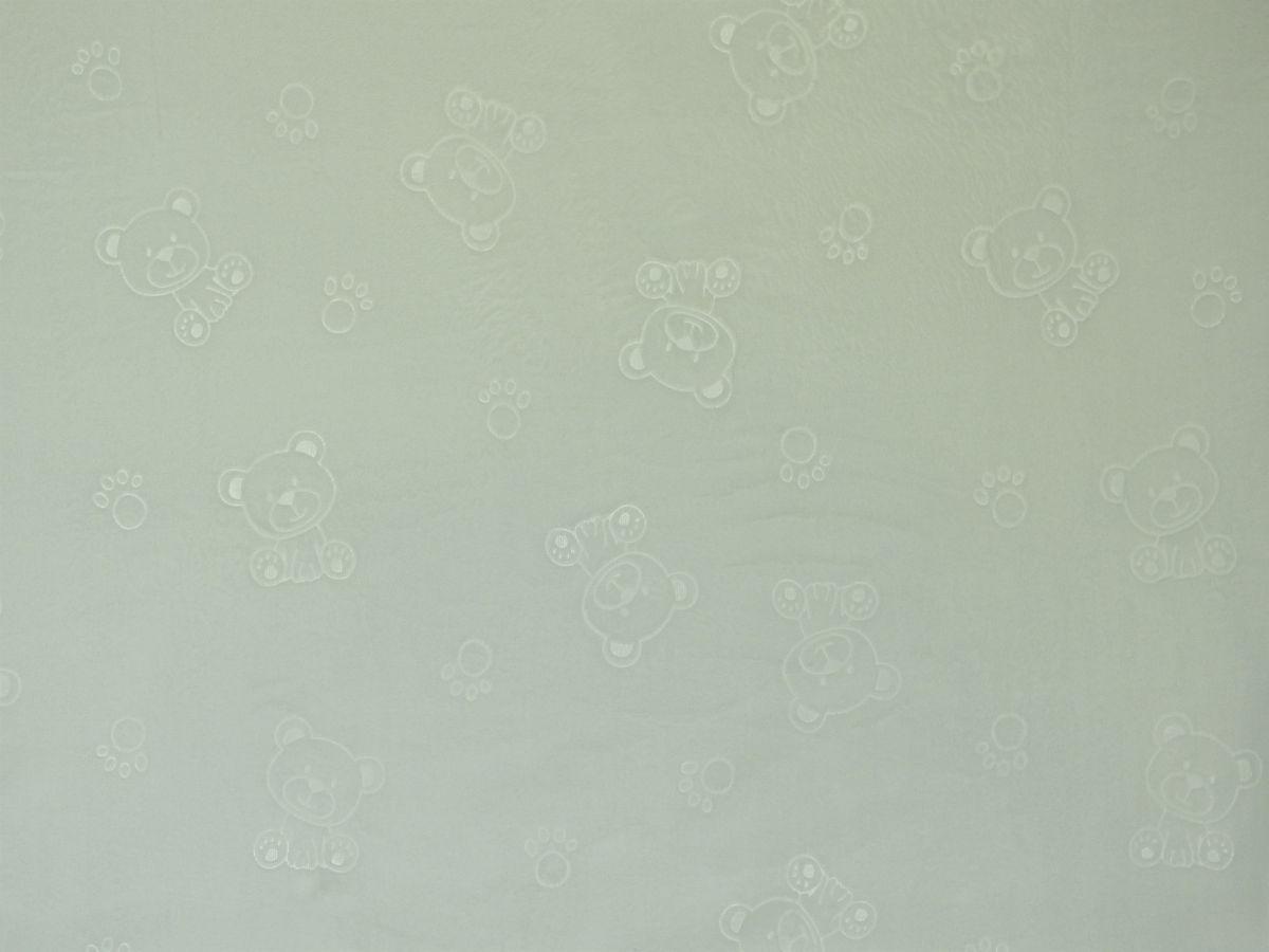 Flanel fleece medvídci smetanovo-bílá