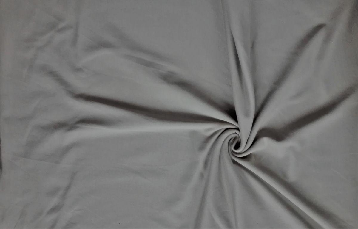 Elastický úplet šedý jednolíc