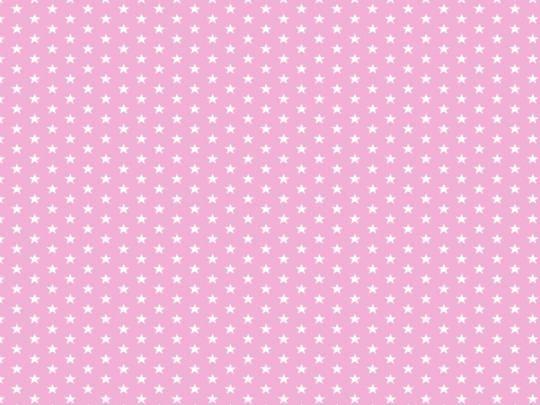 Plátno s potiskem hvězdičky na světle růžové