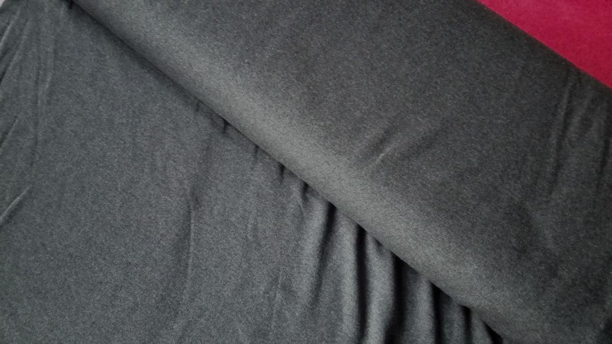 Elastický úplet tmavě šedý melír