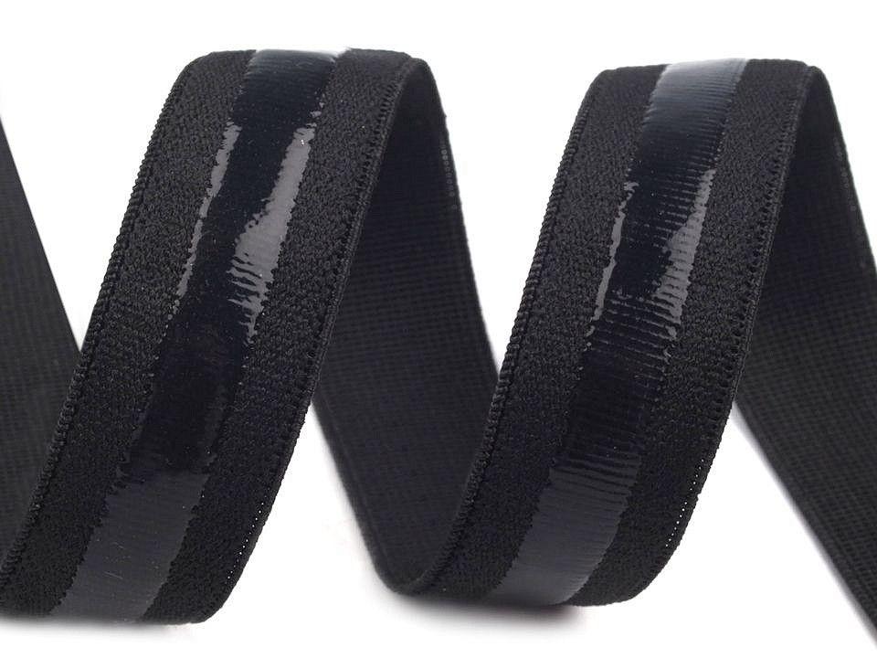 Černá pruženka se silikonem 20mm