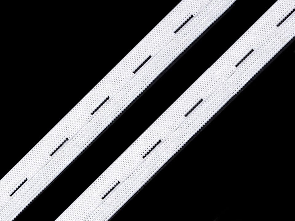 Dírková pruženka bílá 15 mm