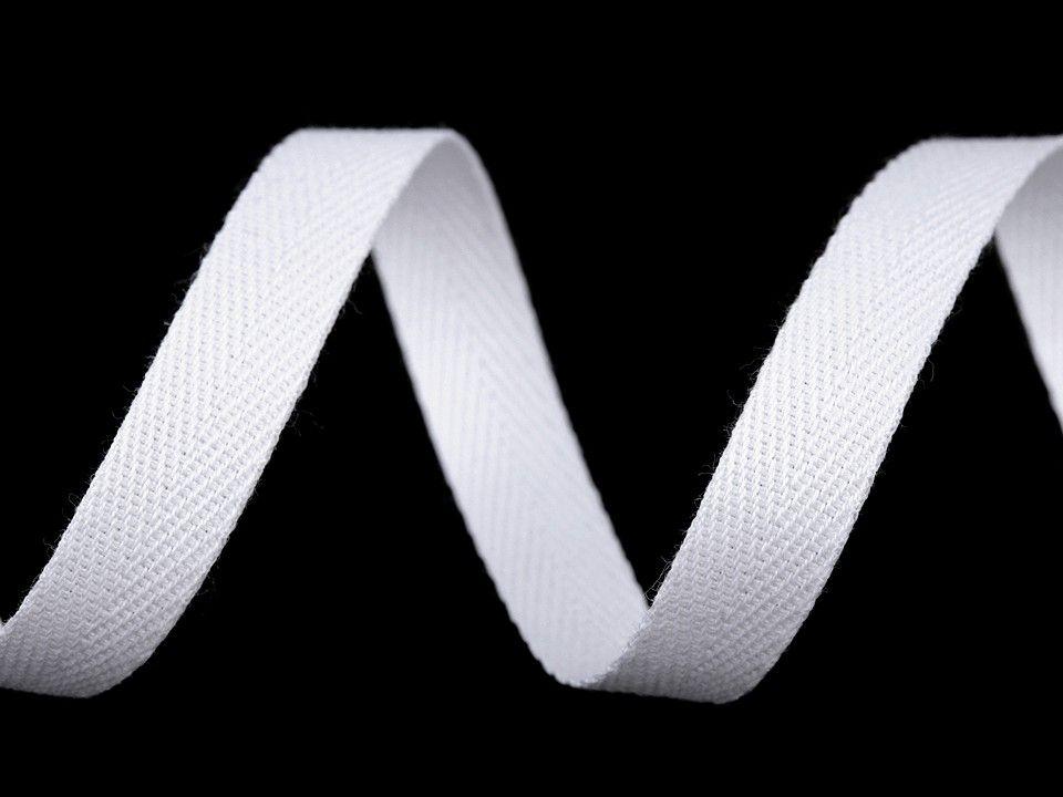 Keprovka bavlněná bílá, šíře 10 mm