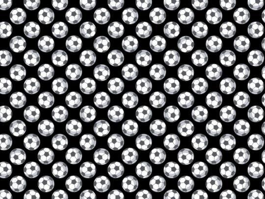 Plátno s potiskem fotbalové míče na černé