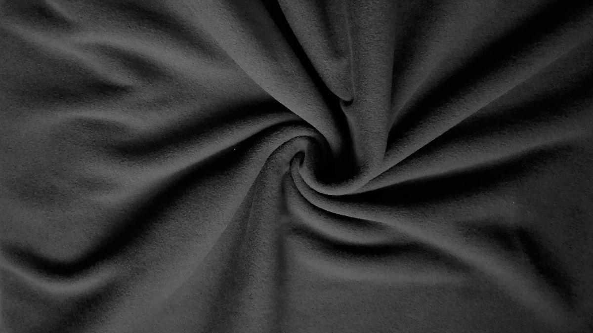 jednobarevný fleece černý