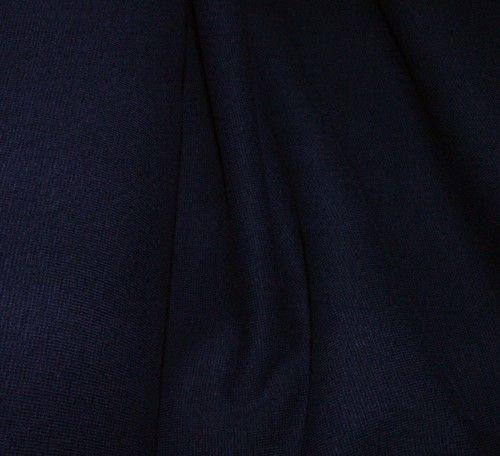 Teplákovina s elastanem tmavě modrá