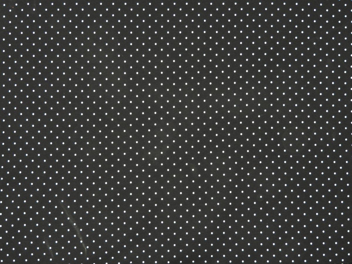 Teplákovina s elastanem puntíky na černé