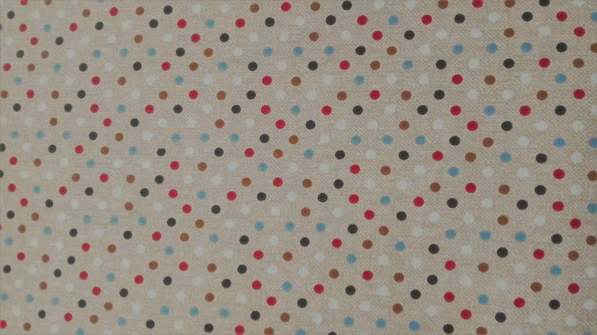 Pevnější plátno kolekce K4 - puntíky
