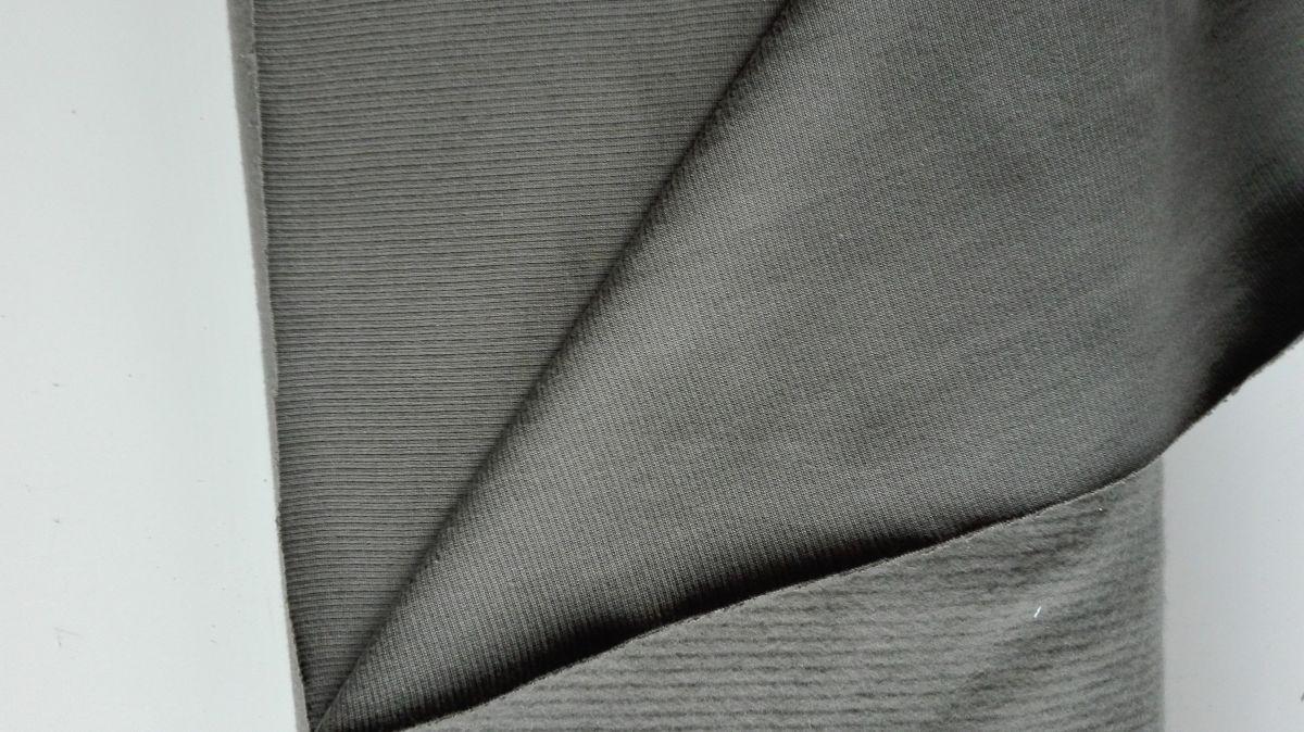 Teplákovina světlá khaki počesaná teplá s chloupkem