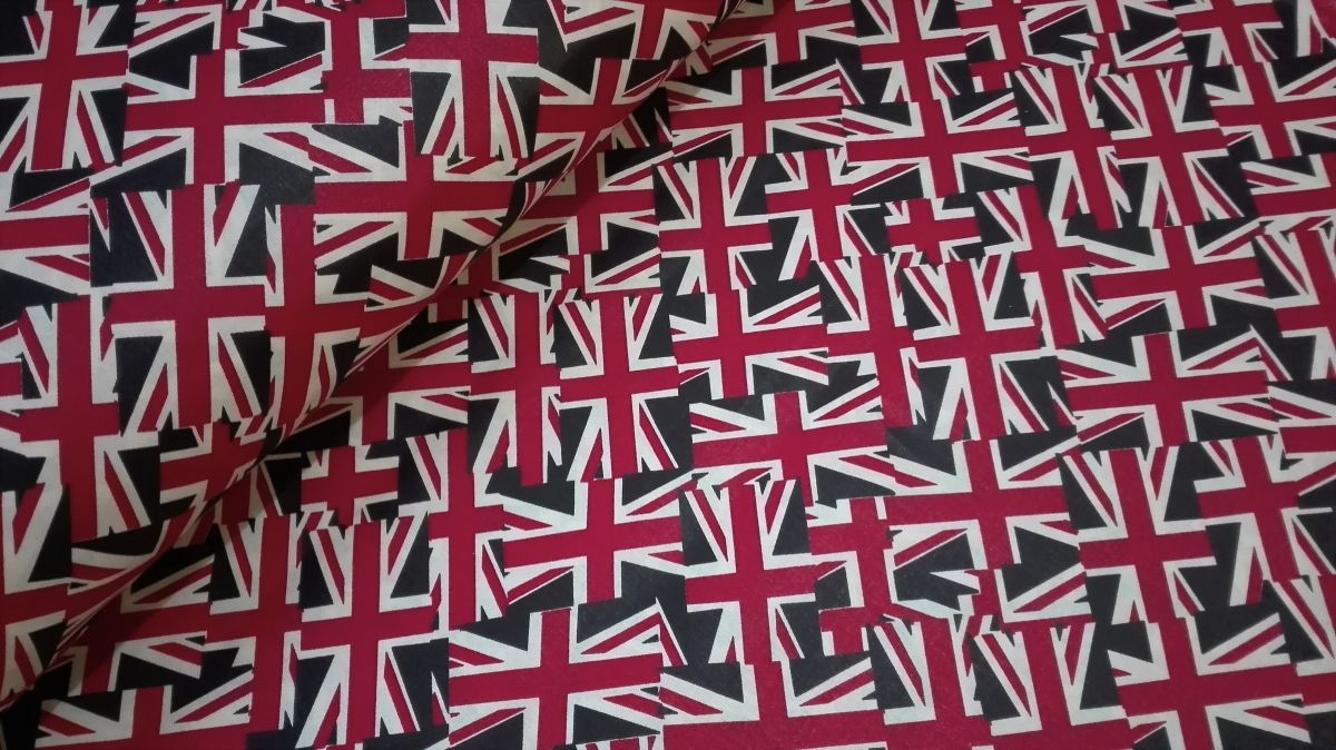 Plátno s potiskem vlajky VB