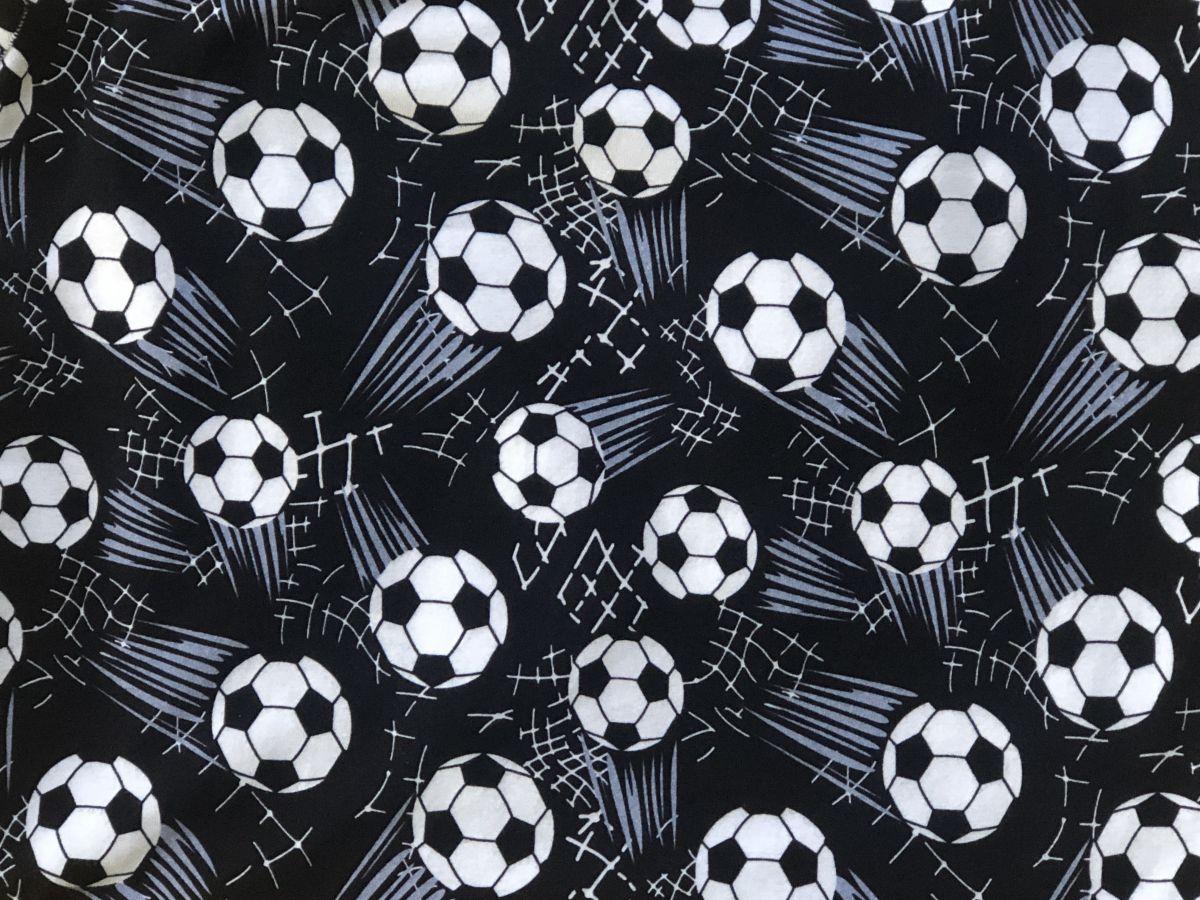 Teplákovina s elastanem DIGITÁLNÍ TISK fotbalové míče