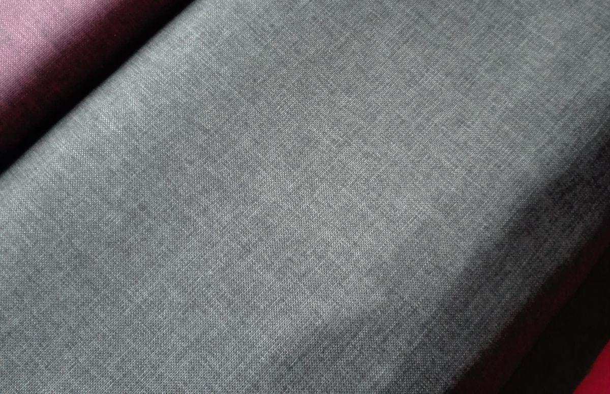 Kočárkovina s potiskem imitace len - tmavě šedá-gray