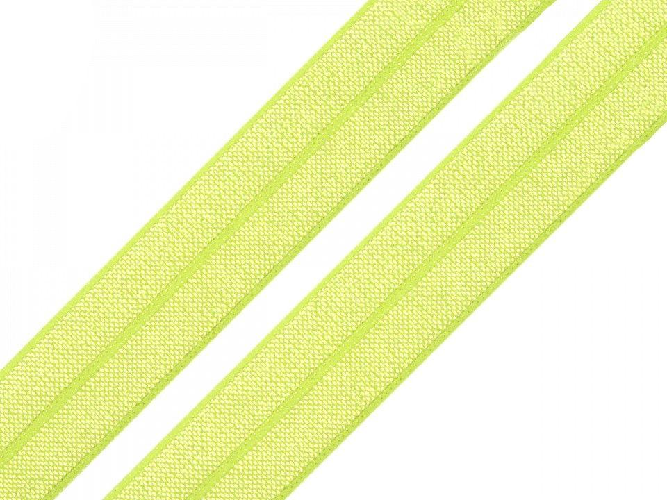 Pruženka lemovací žluto-zelená 20mm
