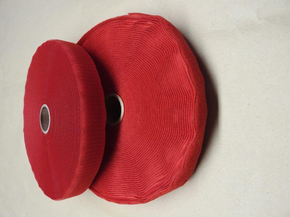Suchý zip červený 30mm