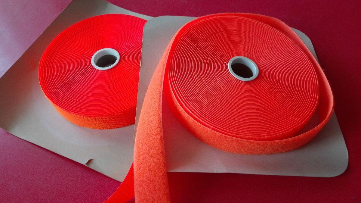 Suchý zip sytý oranžový 80mm
